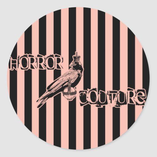horror couture crow logo sticker