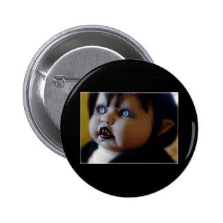 horror doll pin