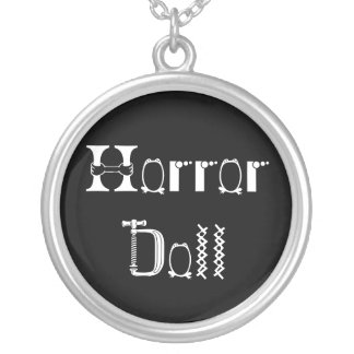 Horror Doll Round Pendant Necklace
