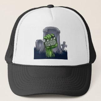 Horror Film Zombie or Monster Clapper Board Sign Trucker Hat