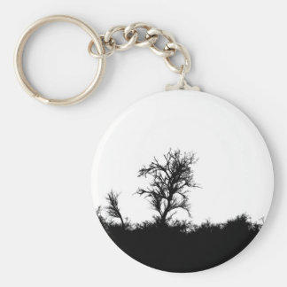 Horror Forrest. Scary Silhouette Key Chains