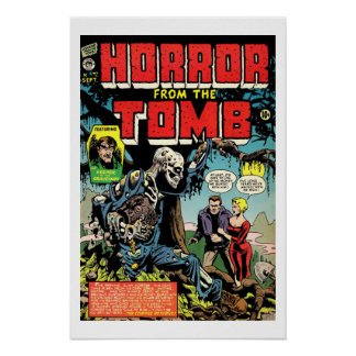 Horror From Tomb Vintage Comic Book Cover Poster