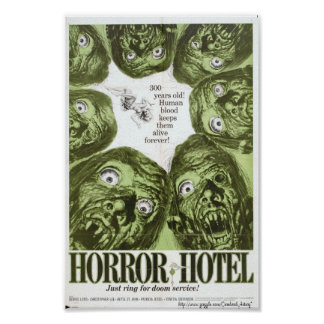 """Horror Hotel"" or ""City of The Dead"" Movie Poster"