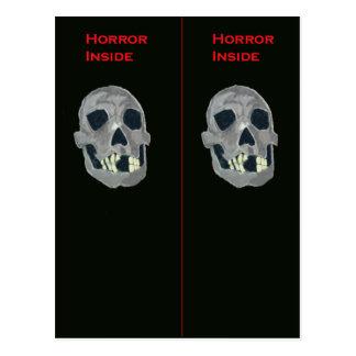 Horror inside Bookmark Postcard