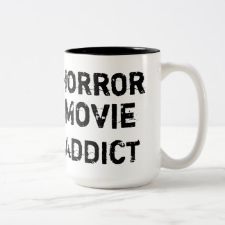 Horror Movie Addict White Mug