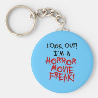 Horror Movie Freak Basic Round Button Key Ring