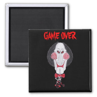 Horror Movie Game Over Puppet Caricature Magnet