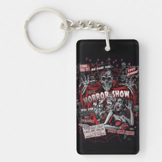 Horror movie Monsters spook show Double-Sided Rectangular Acrylic Key Ring