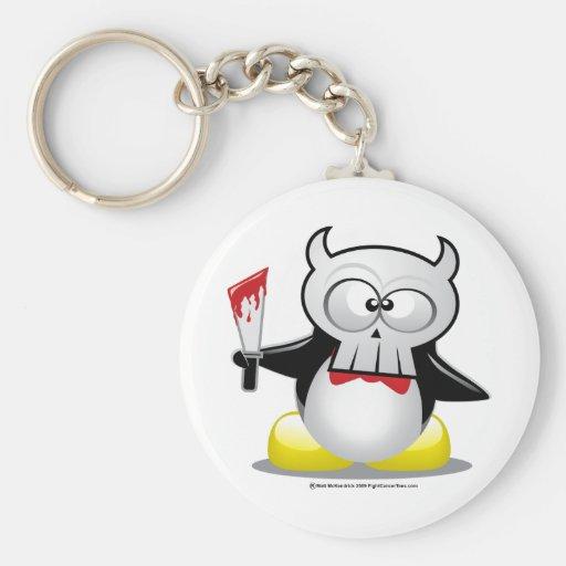 Horror Movie Penguin Keychain