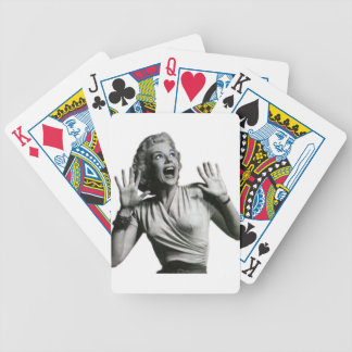 Horror Movie Screamer Bicycle Playing Cards