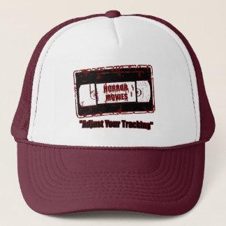 Horror Movies -Adjust Your Tracking Dark Red Trucker Hat