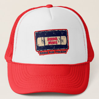 Horror Movies -Adjust Your Tracking Red/Off Yellow Trucker Hat