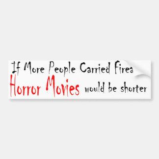horror movies bumper sticker