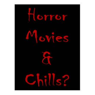 Horror Movies & Chills? Postcard