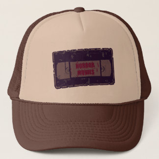 Horror Movies -Video Cassette Purple Trucker Hat