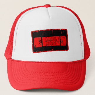 Horror Movies -Video Cassette Red/Black Trucker Hat