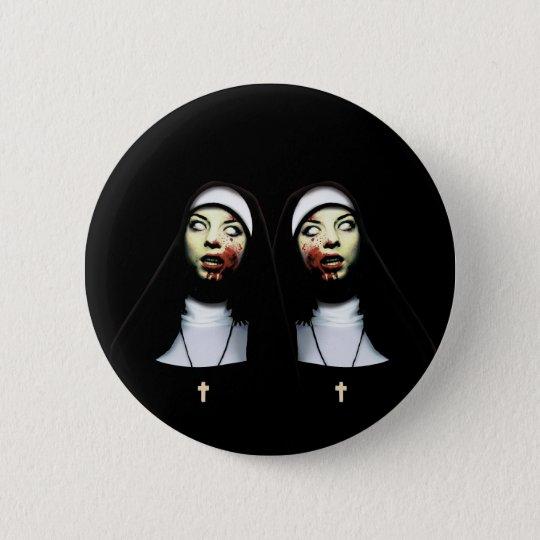 Horror nuns 6 cm round badge