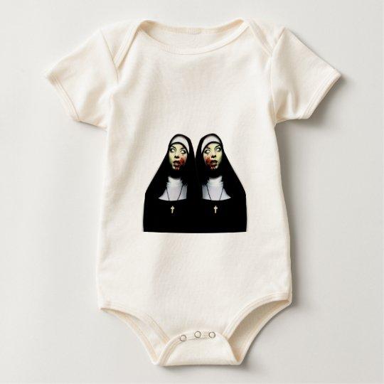 Horror nuns baby bodysuit