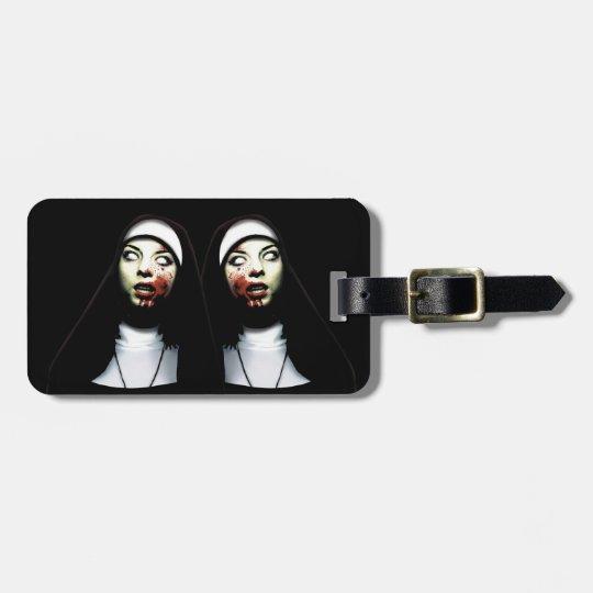 Horror nuns bag tag
