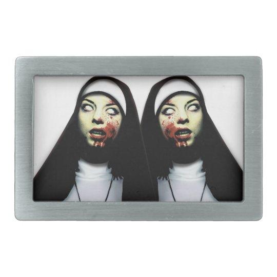 Horror nuns belt buckle