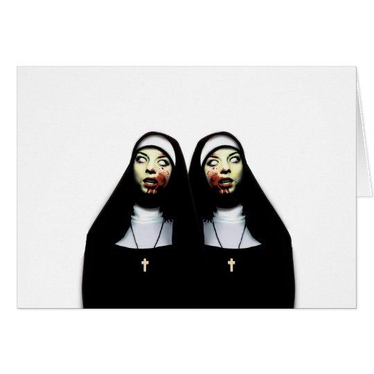 Horror nuns card