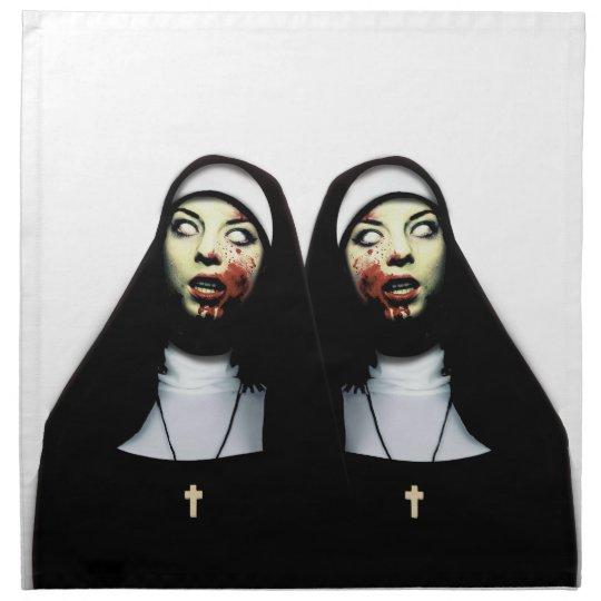 Horror nuns cloth napkins