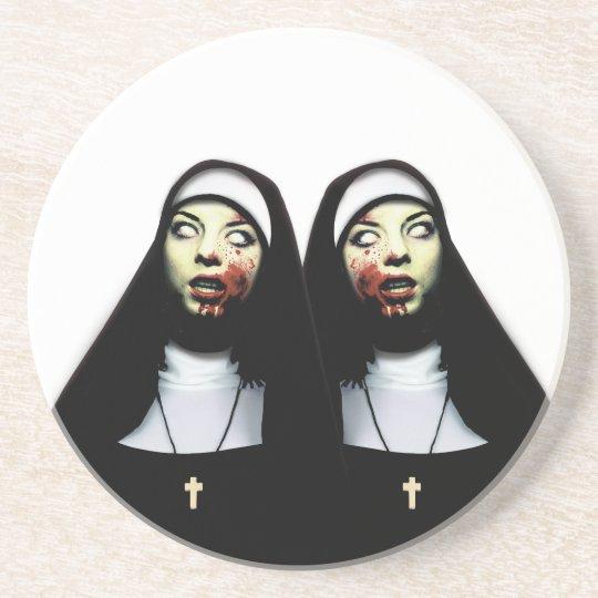 Horror nuns coaster