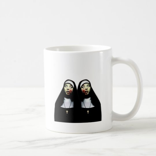 Horror nuns coffee mug
