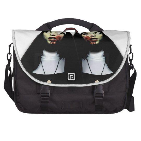Horror nuns laptop shoulder bag