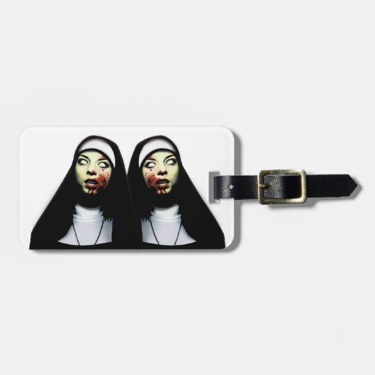 Horror nuns luggage tag