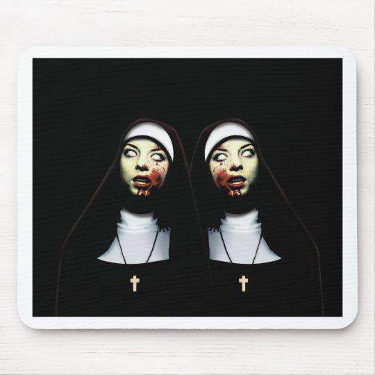 Horror nuns mouse pad