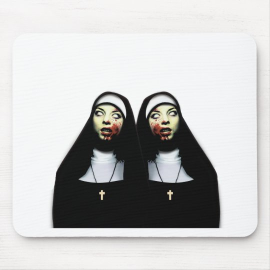 Horror nuns mouse pad