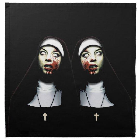 Horror nuns napkin