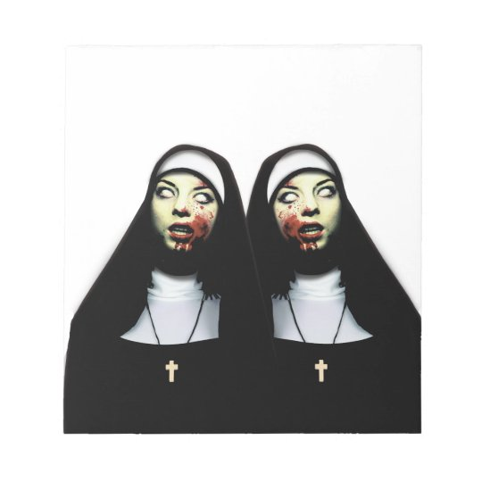 Horror nuns notepad
