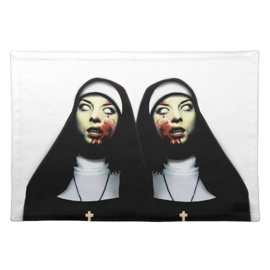 Horror nuns place mats
