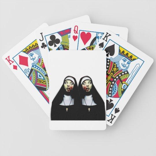 Horror nuns poker deck