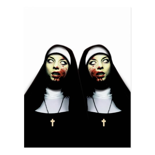 Horror nuns postcard
