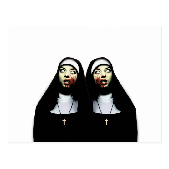 Horror nuns postcard