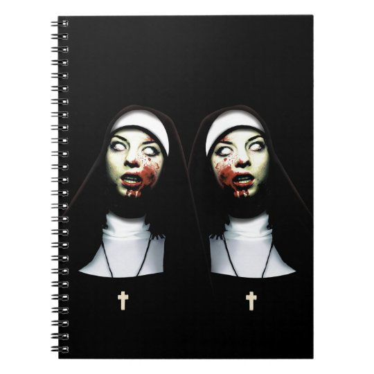 Horror nuns spiral notebook