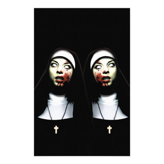 Horror nuns stationery
