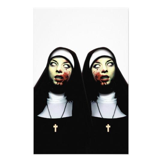 Horror nuns stationery