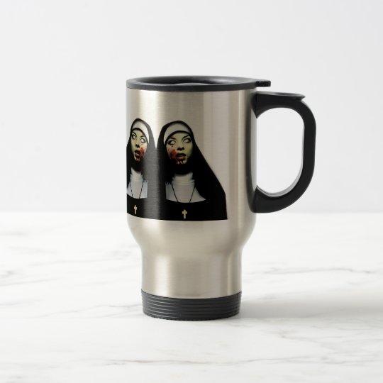 Horror nuns travel mug