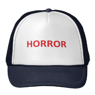 HORROR RED MESH HATS