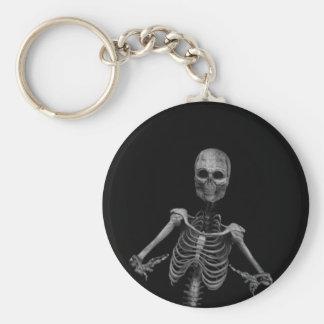 Horror Skeleton 2 Basic Round Button Key Ring