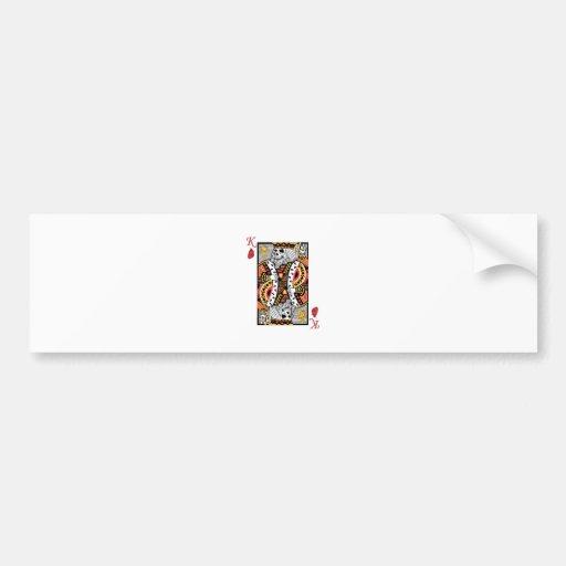 Horror Skeleton King Playing Card Bumper Sticker