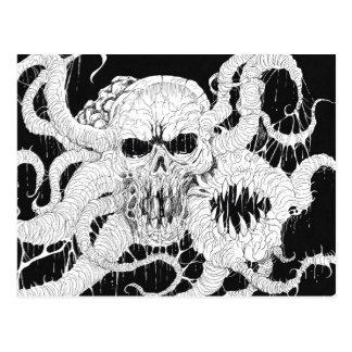 Horror Skull Demon Art Postcard
