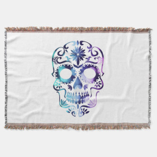 Horror Skull Symbol Throw Blanket
