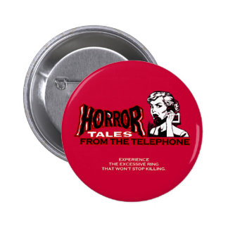 Horror Tales From The Telephone Retro Movie Ad 6 Cm Round Badge