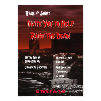 Horror Theme Party Invitation
