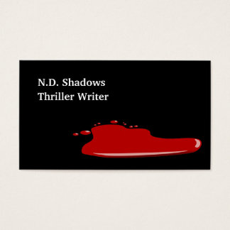 Horror Thriller Author Writer Business Cards Blood